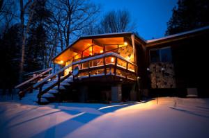 Když je venku zima, na chatě může být teplo /