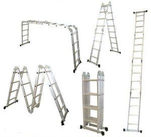 Hliníkové žebříky, schůdky a lešení jsou k dispozici v mnohých variacích /